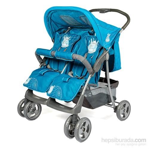 Crystal Baby CB-235 Twin İkiz Bebek Arabası / Mavi