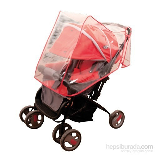 Hepsi Dahice Bebek Arabası Yağmurluğu / Kırmızı