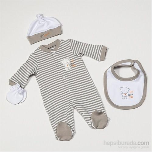 Funna Baby 9254 Follow Me Hastane Çıkış Seti 4Lü Çizgili