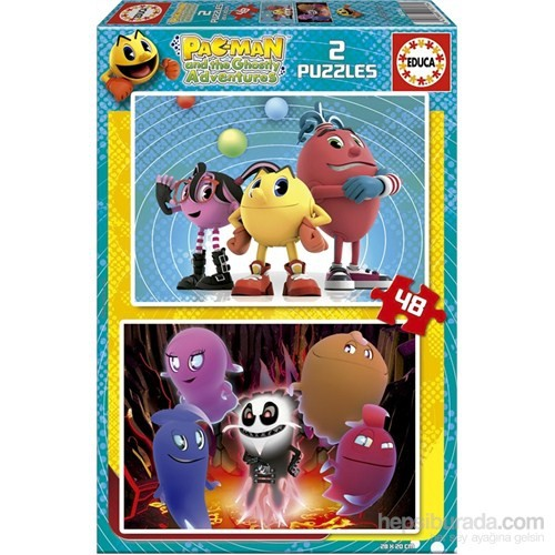 Educa Pac - Man - 2X48 Parça Puzzle
