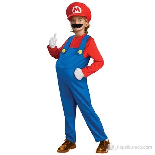 Mr. Mario Kostüm Lüks Large 8-10 Yaş