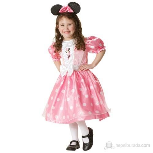 Minnie Mouse Pembe Lüks Çocuk Kostüm 5-6 Yaş