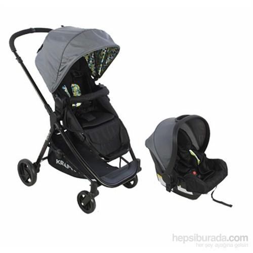 Kraft Bukle Travel Sistem Bebek Arabası Gri