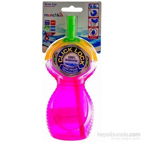 Munchkin Straw Cup Kilitli Kapaklı Pipetli Suluk
