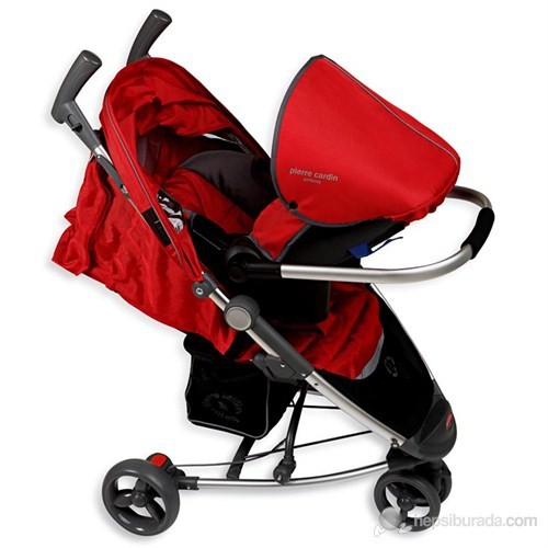 Pierre Cardin PS-807 Uzlibat Seyahat Sistem Bebek Arabası / Kırmızı