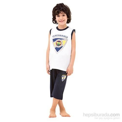 Roly Poly 3037 Fenerbahçe Lisanslı Erkek Çocuk Pijama Takımı Beyaz 2 Yaş (92 Cm)