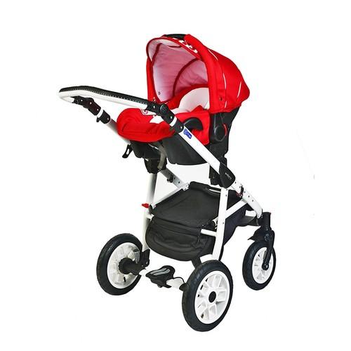 Pajero Alu Bebek Arabası Oto Koltuğu Kırmızı Zebra 02P