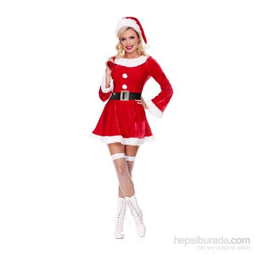 KullanAtMarket Noel Baba Kadın Kostüm