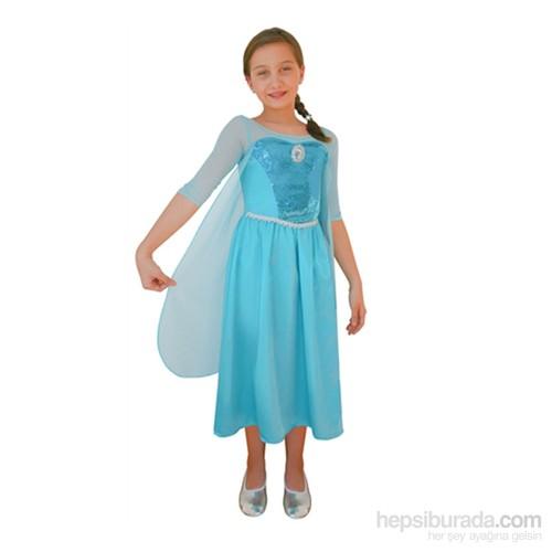 Disney Frozen KullanAtMarket Buzlar Prensesi Elsa Kostüm 7-9 Yaş