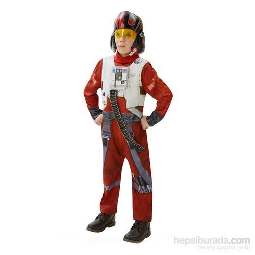 KullanAtMarket Star Wars Episode 7 Poe X-Wing Fighter Kostüm Lüks 5-6 Yaş