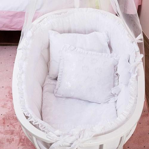 Aybi Baby Beşik Uyku Seti Dantelli