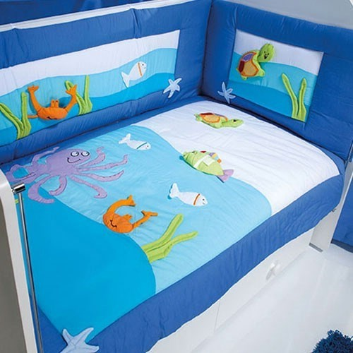 Aybi Baby 212 Aquarium Bebek Uyku Seti 70X130 Turkuaz