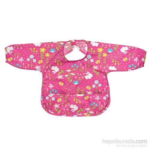 İ Play Sızdırmaz Kollu Giyilen Bebek Önlük Pembe