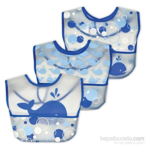 İ Play Sızdırmaz Eva Cırtlı Bebek Önlük Seti 9-18Ay 3 Adet
