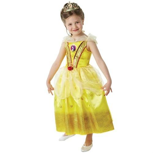 Prenses Belle Çocuk Kostüm 7-8 Yaş Glitter
