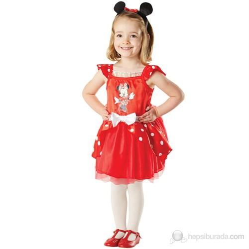Minnie Kırmızı Balerin Çocuk Kostüm 3-4 Yaş