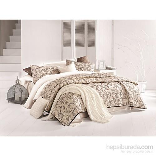 Issimo Home Tek Kişilik Saten Yatak Örtüsü - Caramia