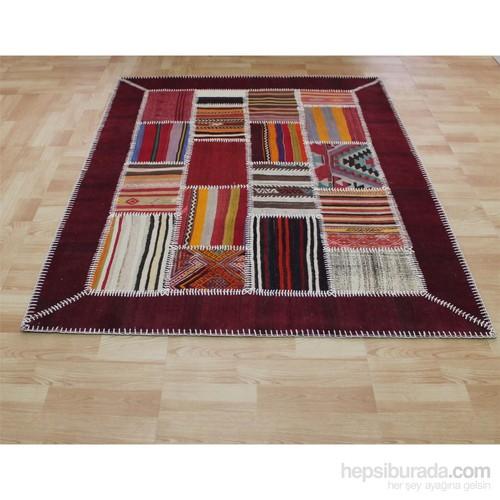 Jüt Tekstil Patcwork Kilim 2-150X200