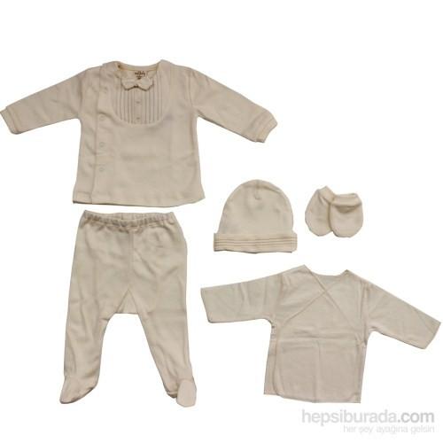 İdil Baby 6161 Organik Bebek Zıbın Takımı Organik 0-3 Ay (56-62 Cm)