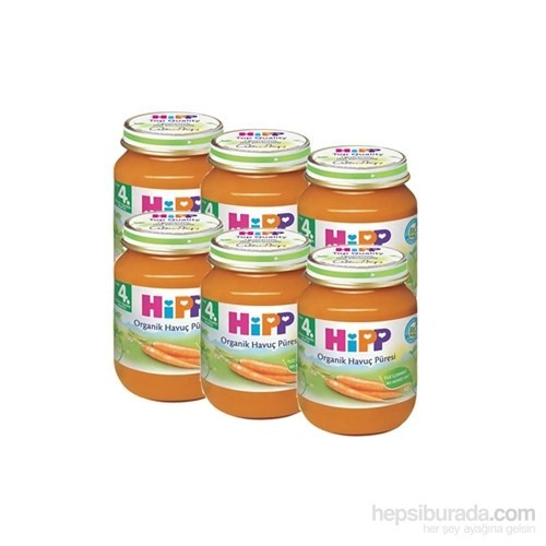 Hipp Organik Havuç Püreli Kavanoz Maması 125 gr - 6'lı