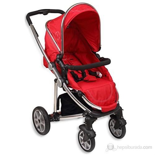 Pierre Cardin PS-4200 Style Seyahat Sistem Bebek Arabası / Kırmızı