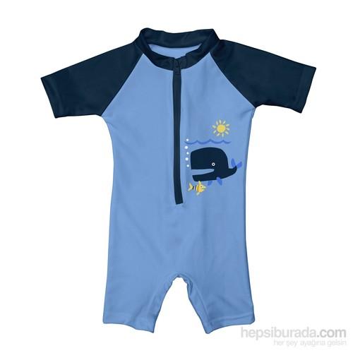 İ Play Upf 50+ Güneş Korumalı Deniz Şort Mayo Bebek Tulum Mavi