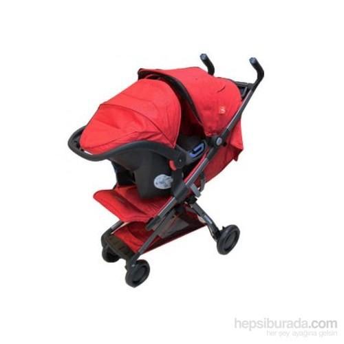 Good Baby Q Fold Seyahat Sistem Bebek Arabası / Red
