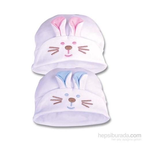 Sevi Bebe Nakışlı Kulaklı Şapka