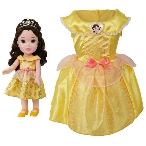 Disney Prenses Belle Kostümlü Ve Bebek Seti 2-4 Yaş
