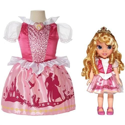 Disney Prenses Uyuyan Güzel Kostümlü Ve Bebek Seti