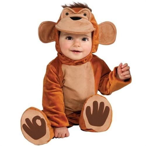 Neşeli Maymun Bebek Kostümü 12-18 Ay