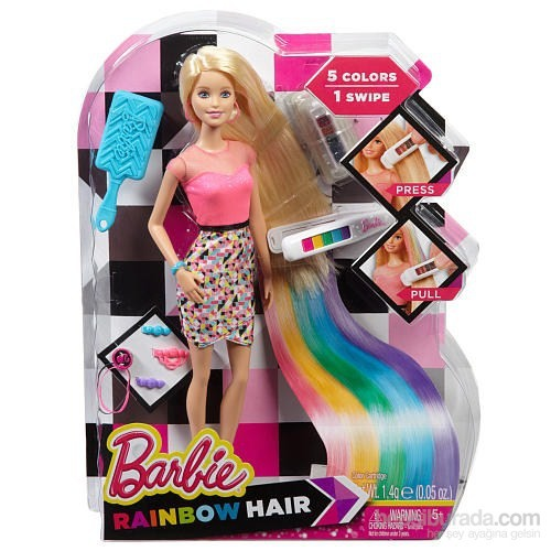 Barbie Gökkuşağı Renkli Saçlar Fiyatı Taksit Seçenekleri