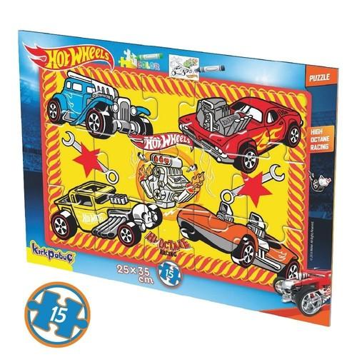 Kırkpabuç Hot Wheels 15 Parça Boyamalı Frame Puzzle