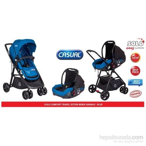 Casual Solo Comfort Seyahat Sistem Bebek Arabası / Mavi