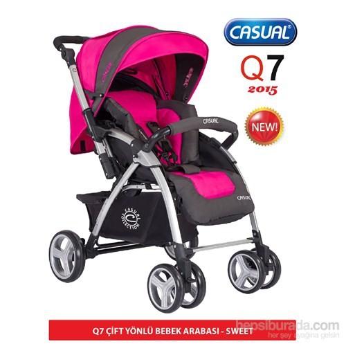 Casual Q7 Çift Yönlü Bebek Arabas / Pembe