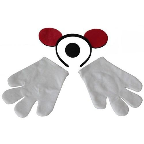 Pandoli Mickey Taç Eldiven Burun Set