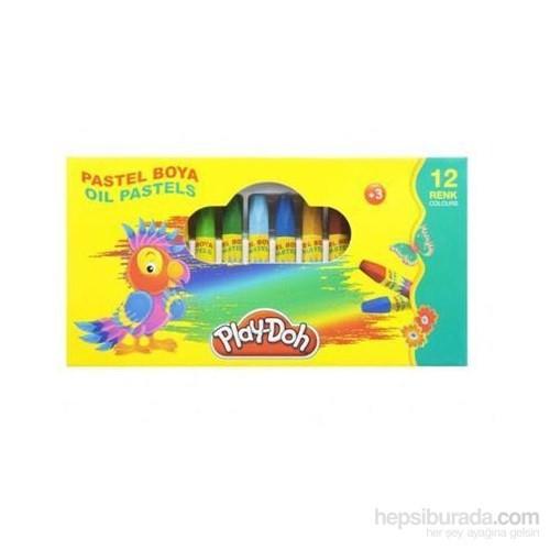 Play-Doh 12 Renk Pastel Boya Çantalı