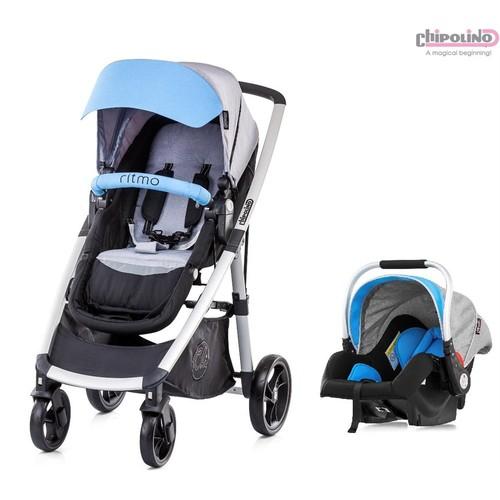 Chipolino Ritmo Single Blue Travel Set Bebek Arabası