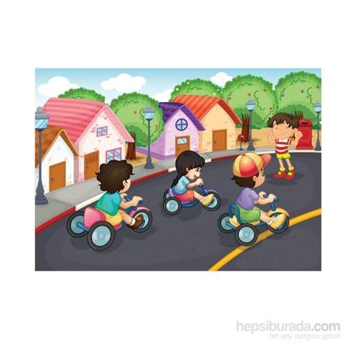 Keskin Color 25X35 Cm 100 Parça Kutulu Yapboz Bisiklet Yarışı