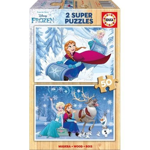 Educa 2X50 Parça Frozen Süper Puzzle