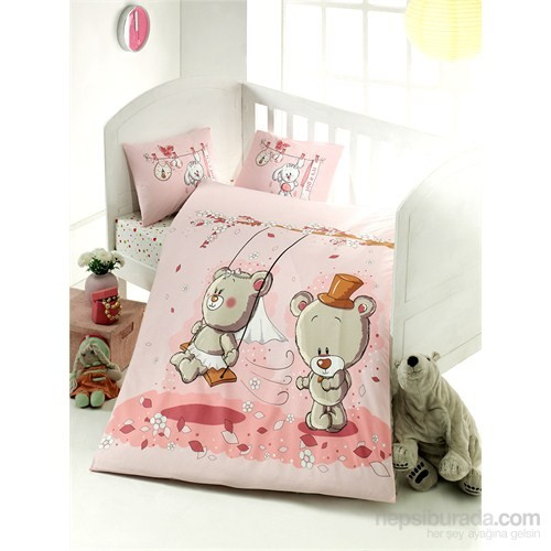Victoria Abaküs Ranforce Bebek Nevresim Takimı Pink Dream