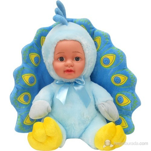 Tavuş Kuşu Peluş Bebek Mavi