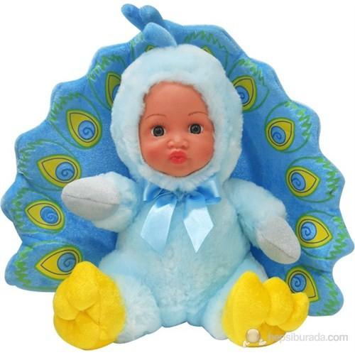Küçük Tavus Kuşu Peluş Bebek Mavi