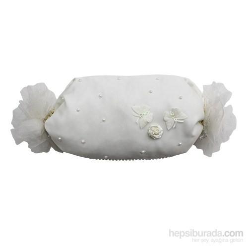 Handan Bebek Altın Takı Yastığı Krem-Şeker Kelebekli