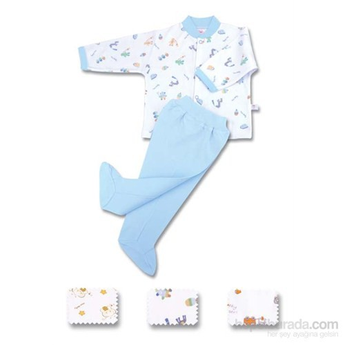 Sevi Bebe Patikli Pantolon Bluz Takım