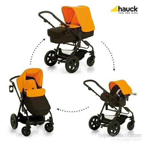 Hauck Pasific Shop N Drive Travel Sistem Bebek Arabası - Orange