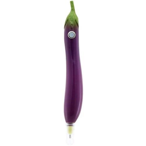 Mıknatıslı Patlıcan Tükenmez Kalem 14 Cm