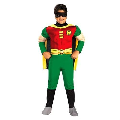 Rubies Teen Titan Robin Kostüm Lüks 8-10 Yaş