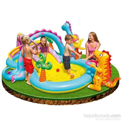 İntex Dinazor Oyun Parklı Bebe Havuzu 333X229x112 Cm