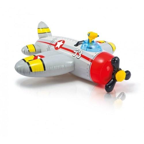 İntex 57537 Su Atan Uçak Binici (Gri) 132 X 130 Cm